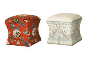 upholstered ottomans